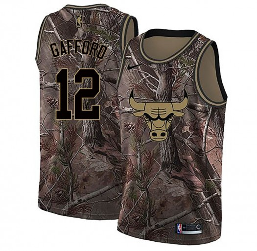 Youth Daniel Gafford Chicago Bulls Nike Swingman Camo Realtree Collection Jersey